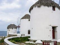 Ветрянки Mykonos Стоковое Изображение RF