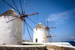 Ветрянки Mykonos Стоковое Фото
