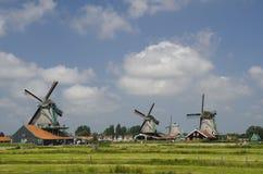 Ветрянки Zaanse Schan Стоковое фото RF