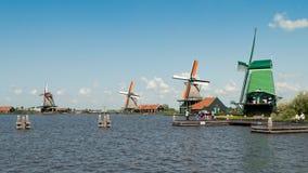 Ветрянки Zaanse Schans Стоковая Фотография
