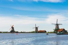 Ветрянки Zaanse Schans Стоковые Изображения