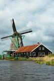 Ветрянки Zaanse Schans Стоковое Изображение RF