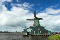 Ветрянки Zaanse Schans Стоковое фото RF