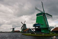 Ветрянки Zaanse Schans Стоковая Фотография RF