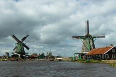Ветрянки Zaanse Schans Стоковые Изображения RF