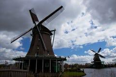 Ветрянки Zaanse Schans Стоковое Изображение