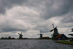 Ветрянки Zaanse Schans Стоковые Фото