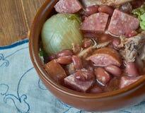 Ветчина бака глиняного кувшина и суп фасоли Стоковое Фото