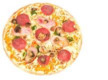 ветчина величает салями пиццы Стоковая Фотография