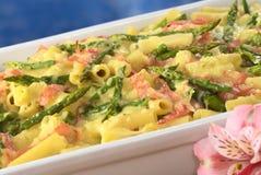 ветчина зеленого цвета casserole спаржи Стоковые Изображения RF