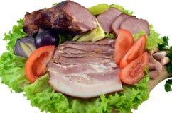 Ветчина и ветчина с салатом и овощами Стоковые Изображения