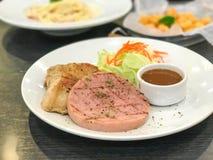 ветчина и стейк цыпленка Стоковое Изображение