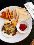 Ветчина и яичко завтрака Стоковые Фотографии RF