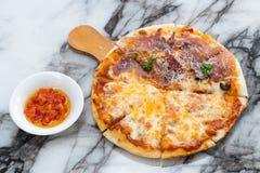 Ветчина Пармы пиццы Стоковое Фото
