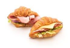 ветчина сандвича круассана Стоковые Фото