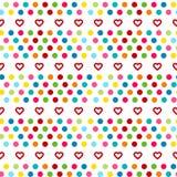 Вечеринка по случаю дня рождения, оформление дня валентинок Картина вектора carnaval безшовная красочная Предпосылка детей праздн Стоковое Изображение RF