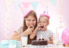 Вечеринка по случаю дня рождения дома Стоковые Фото