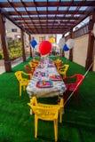 Вечеринка по случаю дня рождения темы детей американская Стоковые Фото
