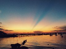 Вечер вида на море Стоковые Фотографии RF