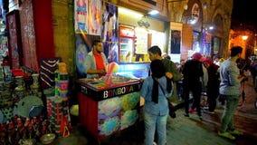 Вечер в базаре Каира, Египте видеоматериал