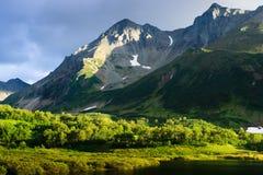 Вечер в горах Стоковое Изображение