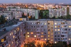Вечер в городе Волгограда Город героя стоковые изображения rf