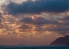 Вечер в заливе стоковое изображение rf