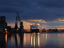 Вечер в порте Стоковые Фото