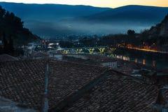 Вечер в Berat Стоковая Фотография