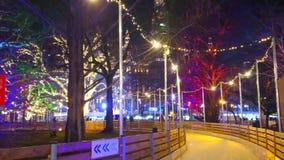 Вечер в Rathauspark, Вене, Австрии