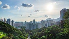 Вечер Гонконг Стоковая Фотография