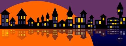 вечер города старый Стоковая Фотография RF