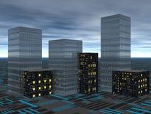 вечер города бесплатная иллюстрация