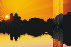 вечер города Стоковые Фотографии RF