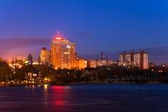 вечер города стоковое изображение