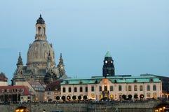 Вечер лета Дрездена стоковые изображения rf