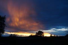 Вечер захода солнца Стоковая Фотография