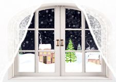 Вечер зимы Стоковое Изображение RF
