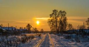 Вечер зимы. Стоковое Изображение