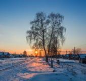 Вечер зимы. Стоковые Изображения