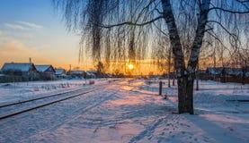 Вечер зимы. Стоковое фото RF