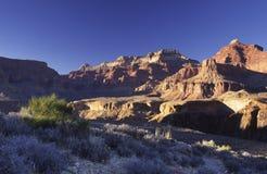 вечер каньона Аризоны грандиозный Стоковые Изображения RF