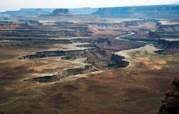 вечер каньона приземляется взгляд Стоковое фото RF