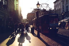 Вечер Львов, Украина Стоковое Изображение RF