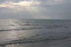 Вечер морем Стоковые Изображения