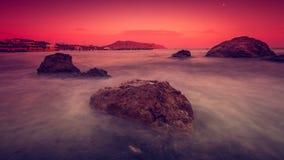 Вечер моря Стоковое фото RF