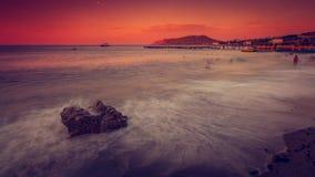 Вечер моря Стоковое Изображение