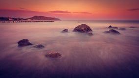 Вечер моря Стоковая Фотография