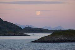 Вечер моря Norvegian Стоковая Фотография RF