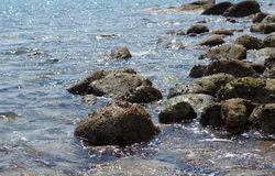 Вечер на каменном пляже Стоковое Изображение